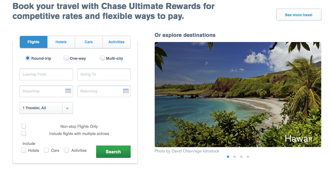 The Chase Ultimate Rewards Travel Portal – Another Avenue