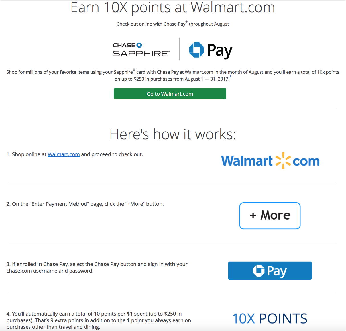12115bc18e3e Earn 10x Ultimate Rewards Points at Walmart.com This Month - Savings ...