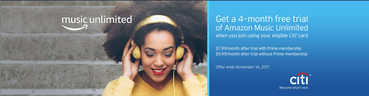 Four Free Months of Amazon Music Unlimited with This Citi Promotion