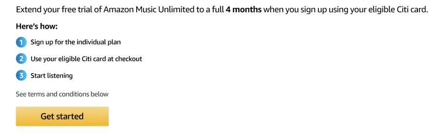 Four Free Months of Amazon Music Unlimited with This Citi