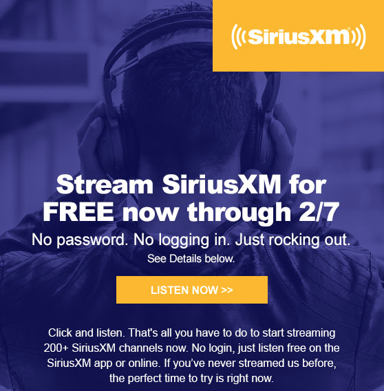 Stream Siriusxm Radio For Free Now Through February 7th Savings Beaglerhsavingsbeagle: Us Radio Streaming Links At Gmaili.net
