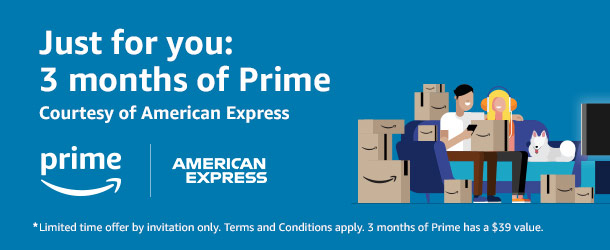 Targeted] Amazon and American Express Offering 3 Months of Prime