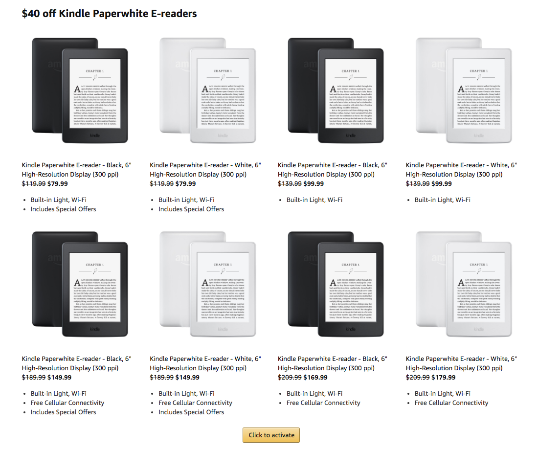 Amazon Prime Members: Save $30-$40 on Kindle E-Readers with