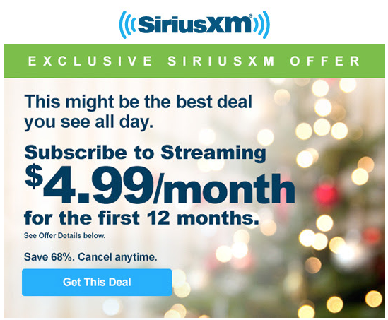 Siriusxm Cancel Subscription >> Siriusxm S Free Listening Event Is Ending Now Come The