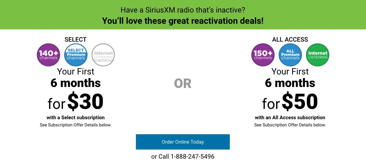 Siriusxm Subscription Deals Savings Beagle