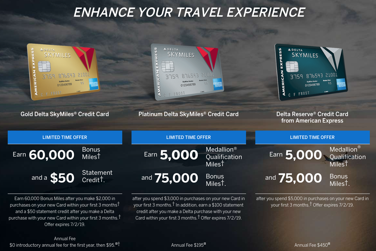 Increased Sign-Up Bonuses on All Delta Credit Cards Make Now the